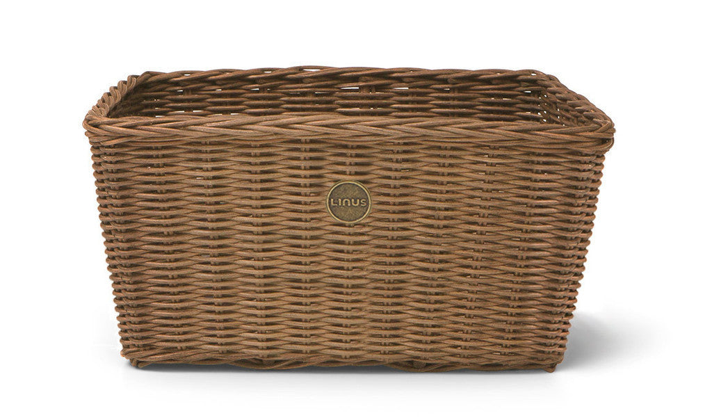 natural wicker rectangular basket