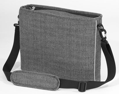 gray tweed bag
