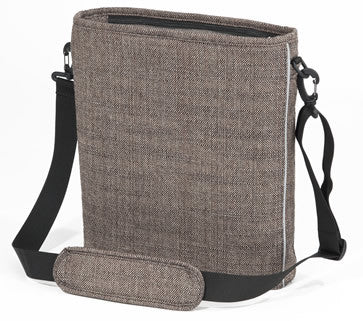 brown tweed bag