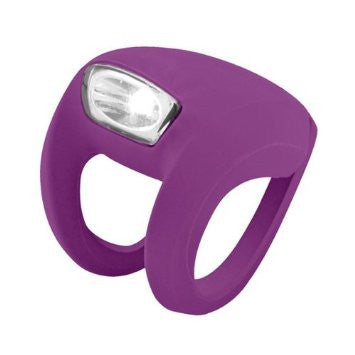 Knog Frog Strobe Light Front - Grape