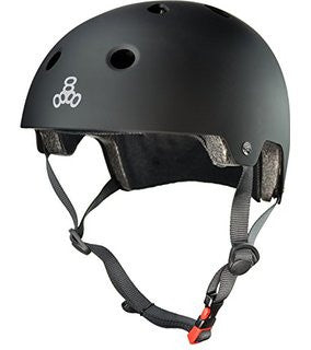 Helmet, Triple8 Brainsaver Black Rubber S/M