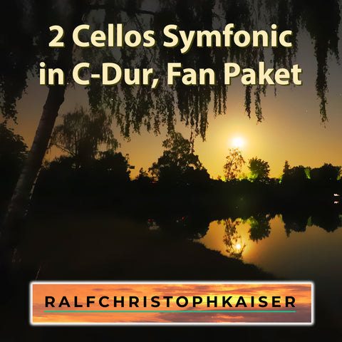 "jetzt neu das atemberaubende Prelludium: ""2 Cellos Symfonic"" in C-Dur by Ralf Christoph Kaiser als Fan Paket mit Full Score and Parts und 3 Versionen als HD Sound wav File inklusive orginal Foto des Covers"