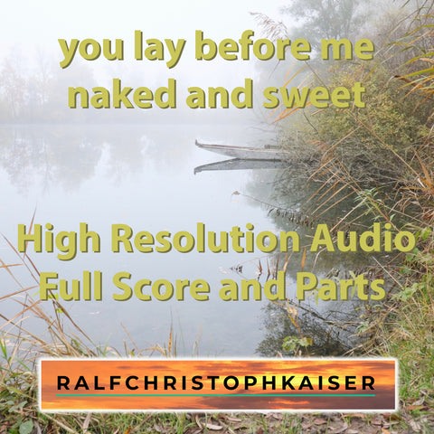 Posaunenchor mit Cello Begleitung 4 Pieces: You lay before me naked and sweet by Ralf Christoph Kaiser