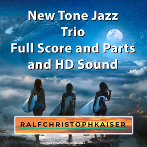 New Tone Jazz Trio in E-Minor for Upright Bass, Flute and Trumpet by Ralf Christoph Kaiser Full Score and Parts and HD Sound Wav File
