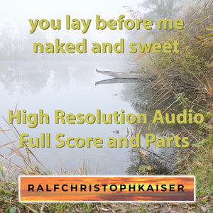 You lay before me naked and sweet - trombone choir with violoncello accompaniment as a classical EP with 4 works by Ralf Christoph Kaiser