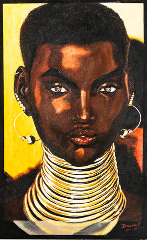 Golden Lady (portrait of Shudu) A modern day Mona Lisa (DC005)