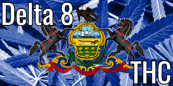 Delta 8 THC Pennsylvania Flag