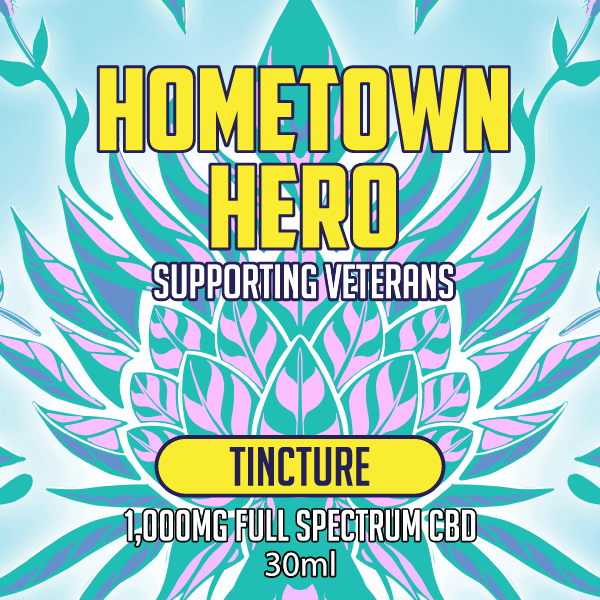 Hometown Hero Full Spectrum CBD Tincture 1000mg Label