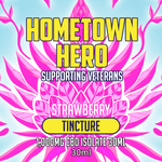 Hometown Hero CBD Strawberry Isolate 1000mg Tincture Label