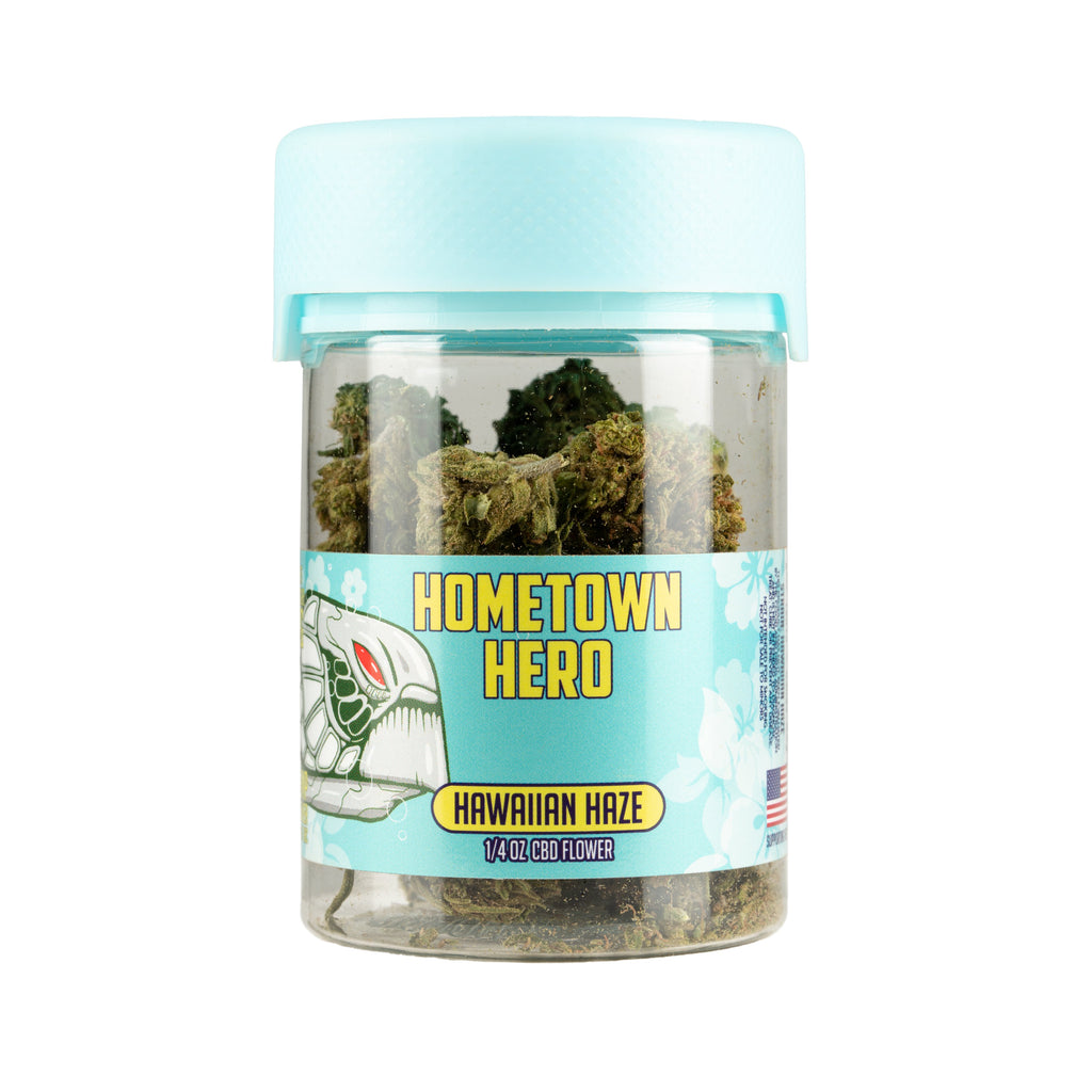 Hawaiian Haze CBD 1/4 oz flower jar photo