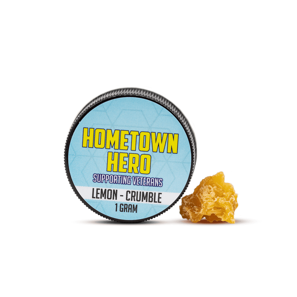 Hometown Hero CBD Lemon Crumble Jar with Concentrate