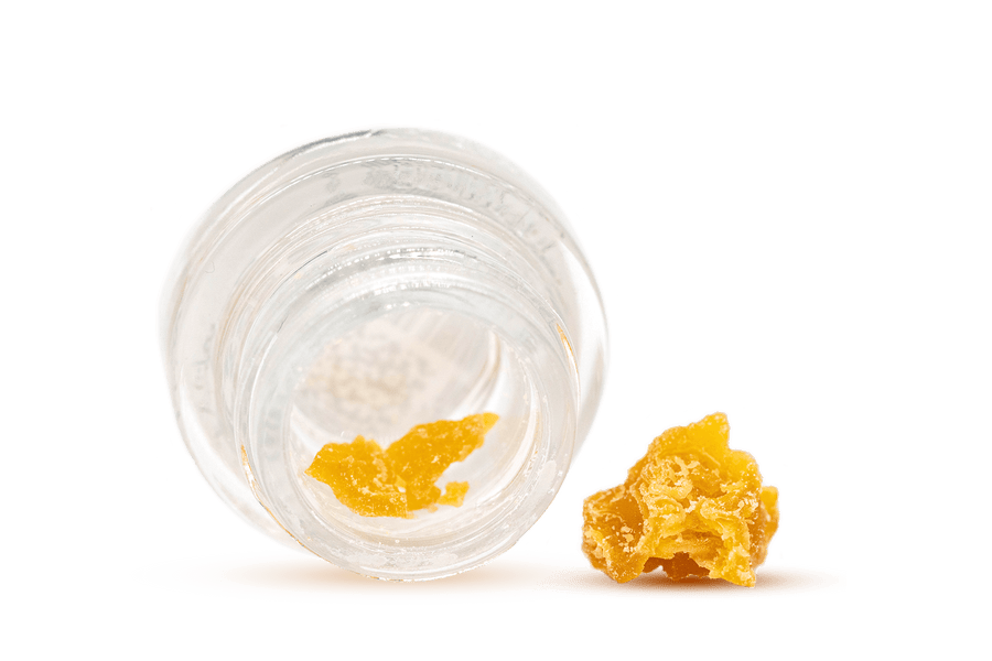 Open Jar of CBD Lemon Crumble Concentrate