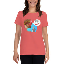 Load image into Gallery viewer, Thanksgiving theme Women's short sleeve t-shirt