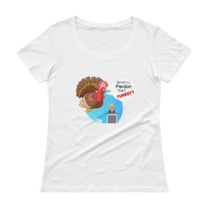 Thanksgiving theme Ladies' Scoopneck T-Shirt