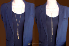 The Convertible Citrine Lariat With Chain Tassels