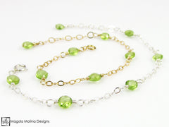 Mini Goddess (children) Delicate Peridot Bracelet