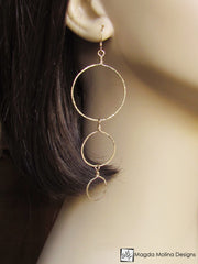 The Hammered Gold or Silver Bubbles Earrings