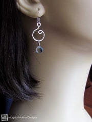 The Hammered Gold or Silver Spiral Earrings
