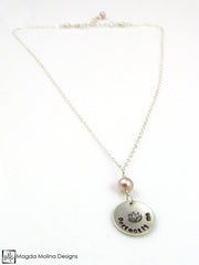 "Mini Goddess (children) ""perfectly me"" Necklace With Colorful Freshwater Pearls"