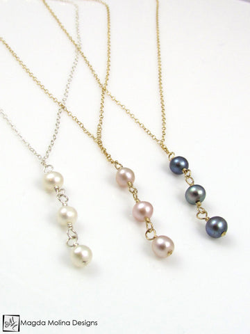 Mini Goddess (children) Triple Freshwater Pearl Necklace