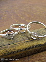 The Delicate Mini Silver Bubbles Stackable Rings (1 piece)