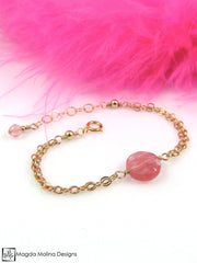 Mini Goddess (children) Cherry Quartz Double Chain Bracelet