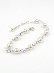 Mini Goddess (children) Gold or Silver Freshwater Pearl Bracelet