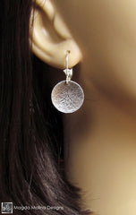 The Hammered Silver LOVE: INFINITE Spiral Affirmation Earrings