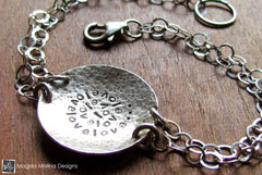 The Hammered Silver LOVE: INFINITE Affirmation Bracelet