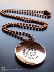 The Short Copper LOVE: INFINITE Affirmation Necklace