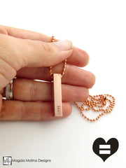 The PEACE LOVE & UNITY Copper Omnisex Necklace