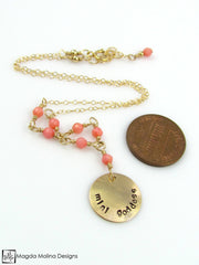 Mini Goddess (children) Pink Coral Necklace