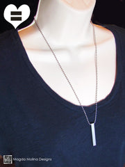 The PEACE LOVE & UNITY Stainless Steel Omnisex Necklace