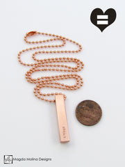 The PAIX, AMOUR & UNITE Copper Omnisex Necklace