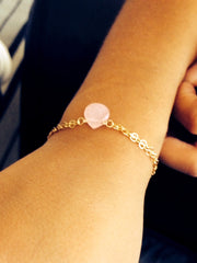 Mini Goddess (children) Rose or Blue Quartz Chain Bracelet