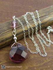 The Delicate Purple Quartz Chain Necklace on Silver or Gold