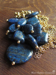 The Long Lapis Lazuli Cluster Necklace