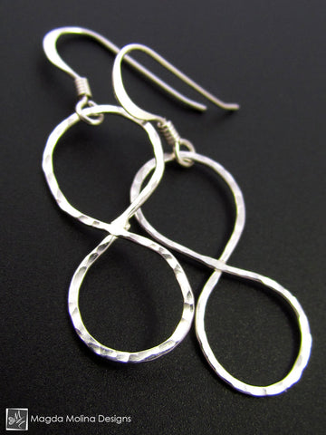The Hammered Silver Infinity Earrings