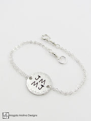 The Personalized Delicate Silver Friendship Bracelet