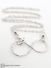 The Hammered Silver Infinity Necklace