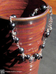 The Grounding Silver And Hematite Cluster Bracelet