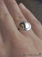 "The ""BE THE CHANGE"" Hand Stamped Silver Affirmation Ring"