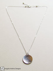 The Mini Hammered Silver LOVE: INFINITE Spiral Affirmation Necklace