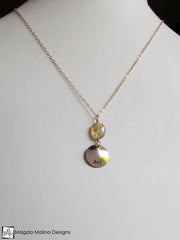 "The Gold And Rutilated Quartz ""JOY"" Affirmation Necklace"