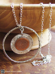 The Long Silver And Copper LOVE: INFINITE Affirmation Necklace