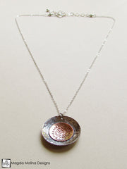 The Silver And Copper LOVE: INFINITE  Spiral Necklace