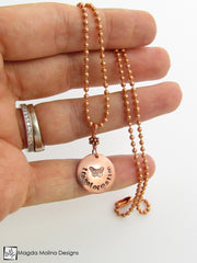 The Hand Stamped Copper Butterfly And Transformation Necklace