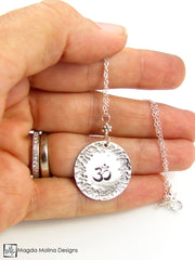 The Hand Stamped And Hammered Silver OM Necklace