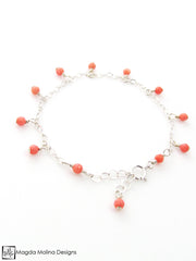 Mini Goddess (children) Tiny Pink Coral Bracelet