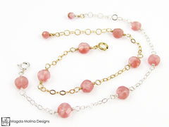 Mini Goddess (children) Delicate Cherry Quartz Bracelet